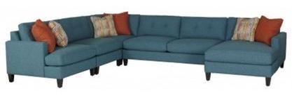 Mia Sectional Sofa by Jonathan Louis at Fashion Furniture