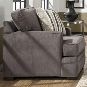 Casual Arm Chair with Track Arms