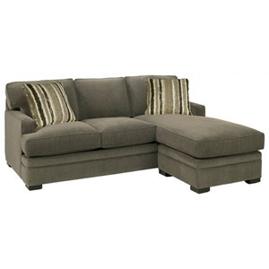 Casual Sofa with Chaise and Track Arms
