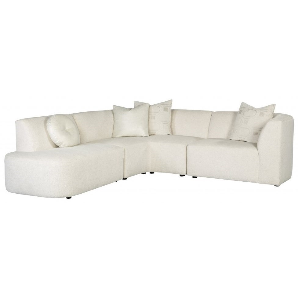 Nyla Modern Sectional Sofa by Jonathan Louis at Fashion Furniture