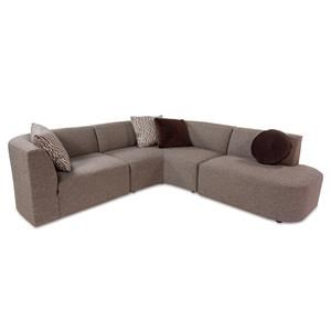 Modern 3 Piece Sectional Sofa with Bumper Chaise