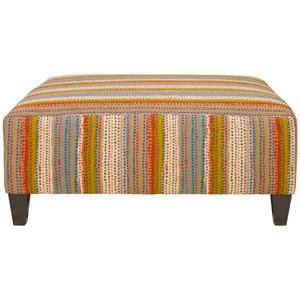 Casual Large Square Ottoman