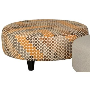 Casual Large Round Ottoman
