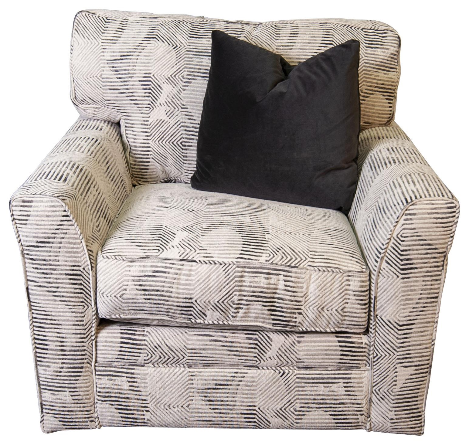 Paisley Paisley Swivel Chair by Jonathan Louis at Morris Home