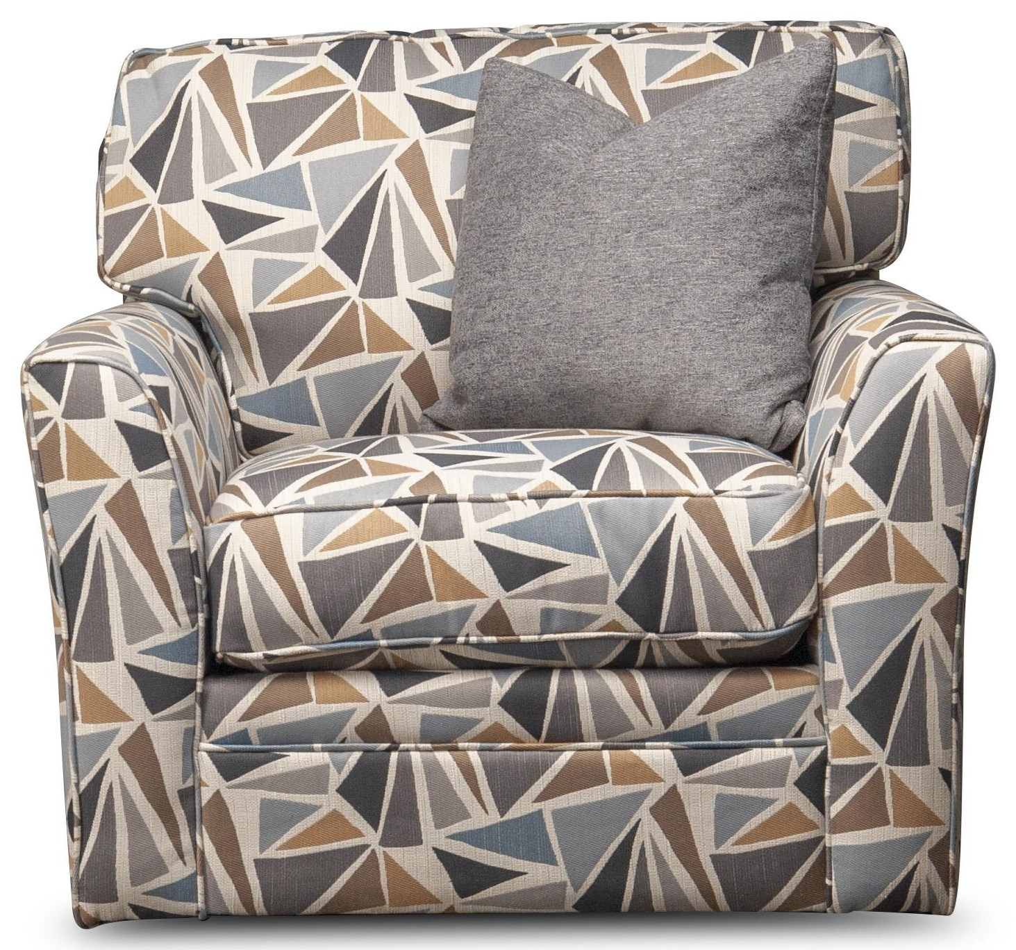Paisley Paisley Upholstered Swivel Chair by Jonathan Louis at Morris Home