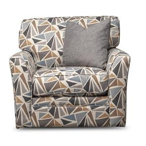 Paisley Upholstered Swivel Chair