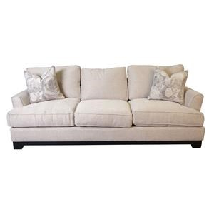 Paisley Estate Sofa with Accent Pillows