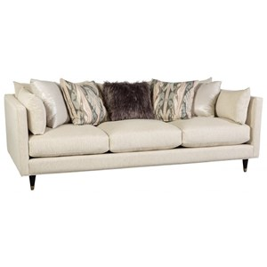 Contemporary Sofa with Arm Pillows