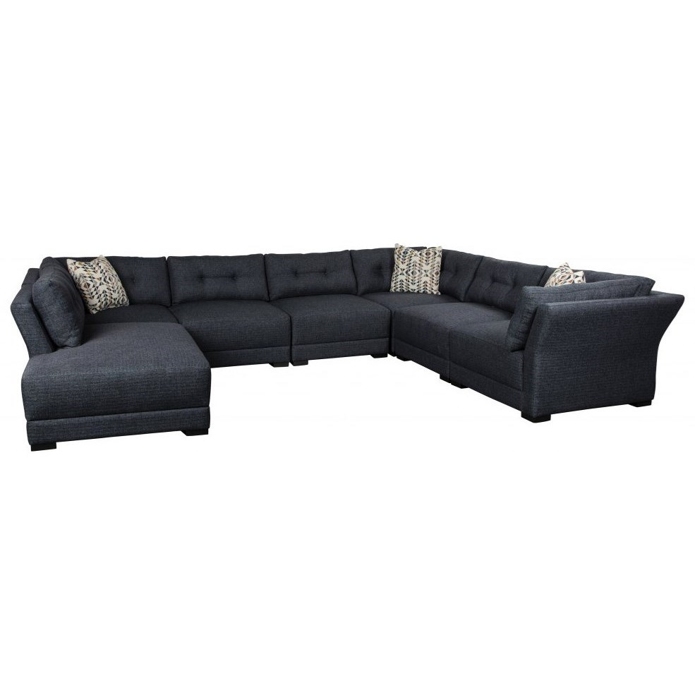 Renwick 5-Seat Sectional Sofa w/ LAF Bumper Chaise by Jonathan Louis at Fashion Furniture