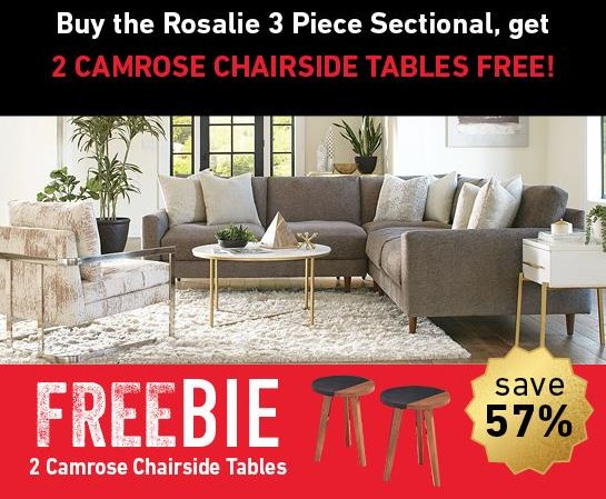 Rosalie Rosalie Sectional Sofa with Freebie! by Jonathan Louis at Morris Home