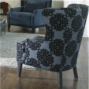 Shallow Armed Wing Chair