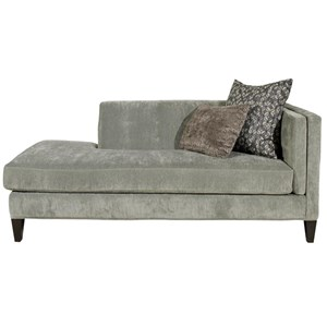 Traditional One Arm Sofa with Tufting