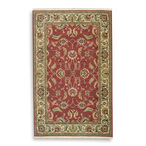 Agra Red Rectangle Area Rug 5.9x9