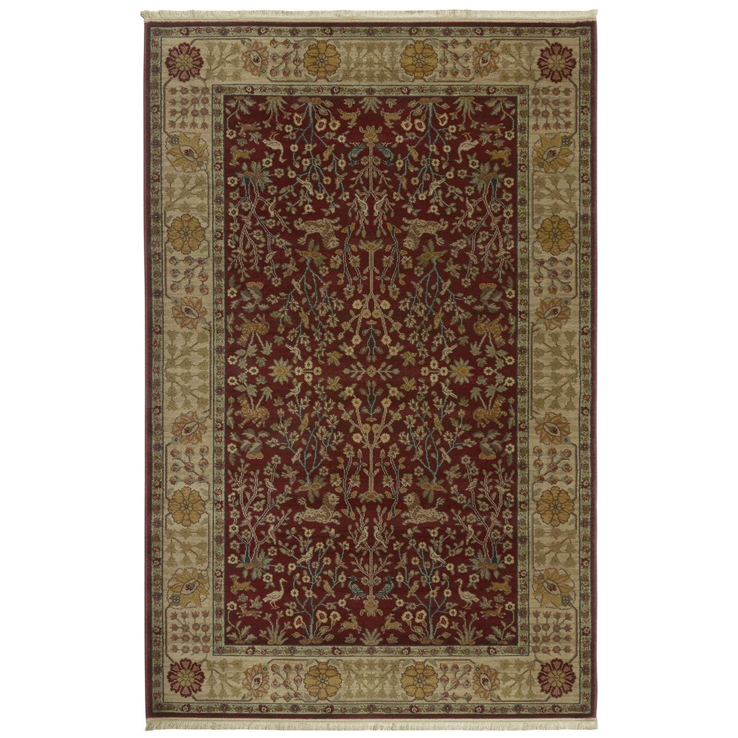 Antique Legends 4'3x6' Emperor's Hunt Rug by Karastan Rugs at Alison Craig Home Furnishings