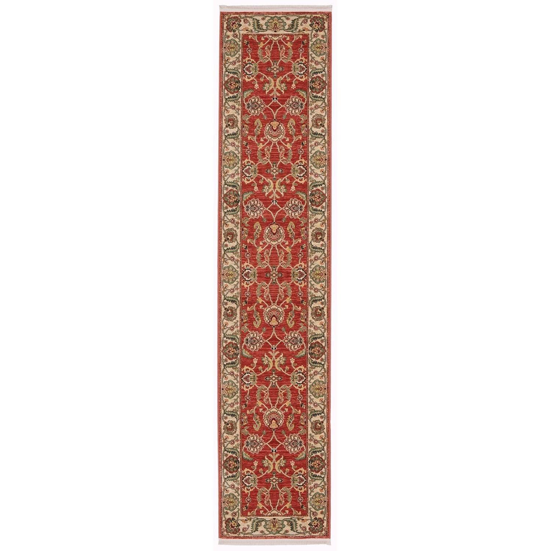 Ashara 2'6x12' Agra Red Rug Runner by Karastan Rugs at Darvin Furniture