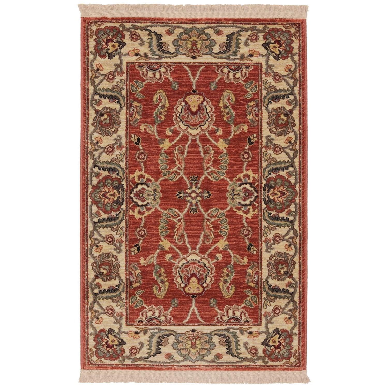 Ashara 8'8x10' Agra Red Rug by Karastan Rugs at Darvin Furniture