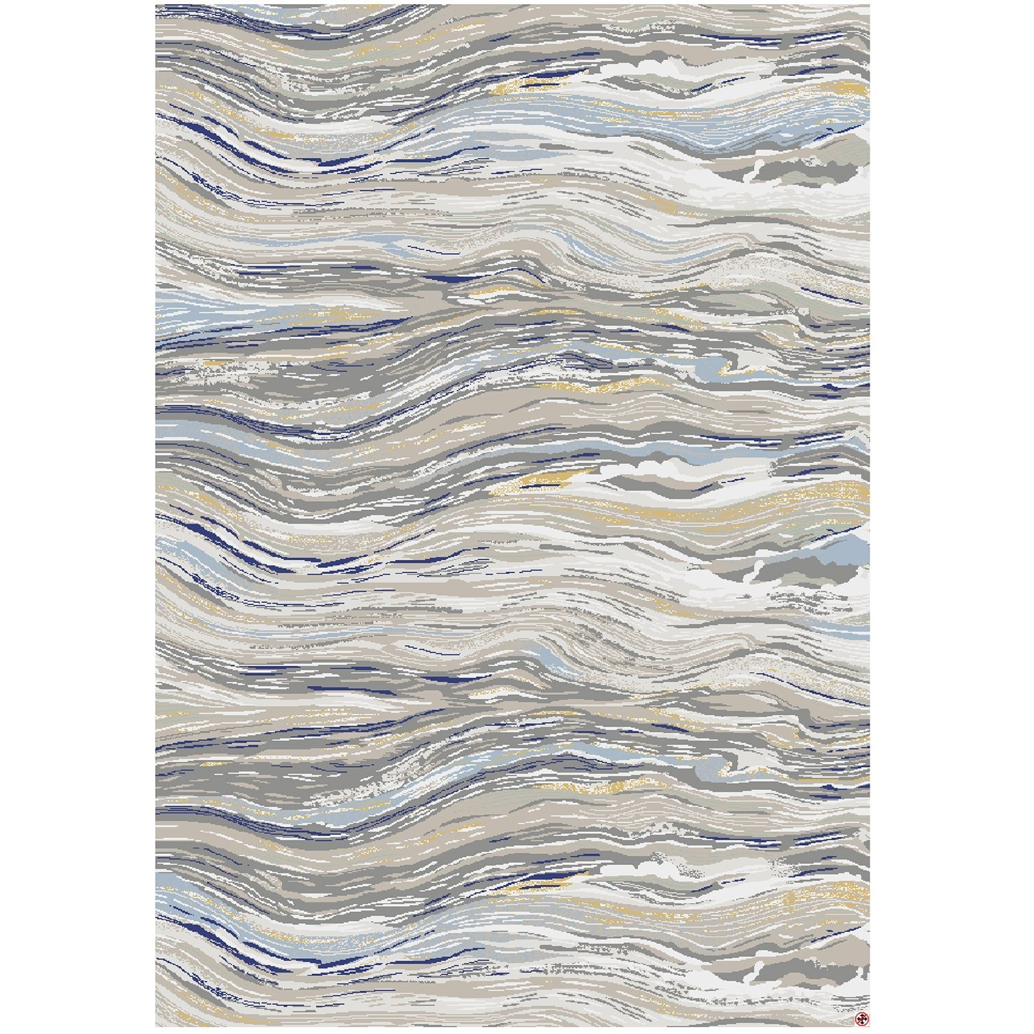 """Enigma 5' 3""""x7' 10"""" Rectangle Striped Area Rug by Karastan Rugs at Darvin Furniture"""