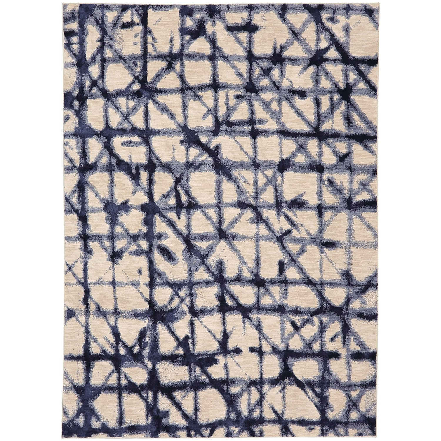 """Enigma 5' 3""""x7' 10"""" Rectangle Geometric Area Rug by Karastan Rugs at Darvin Furniture"""