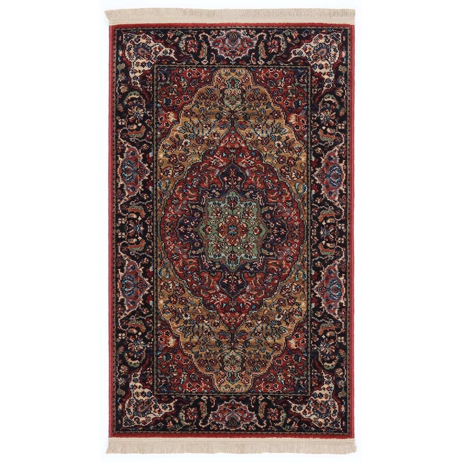 Original Karastan 4'3x6' Medallion Kirman Rug by Karastan Rugs at Darvin Furniture
