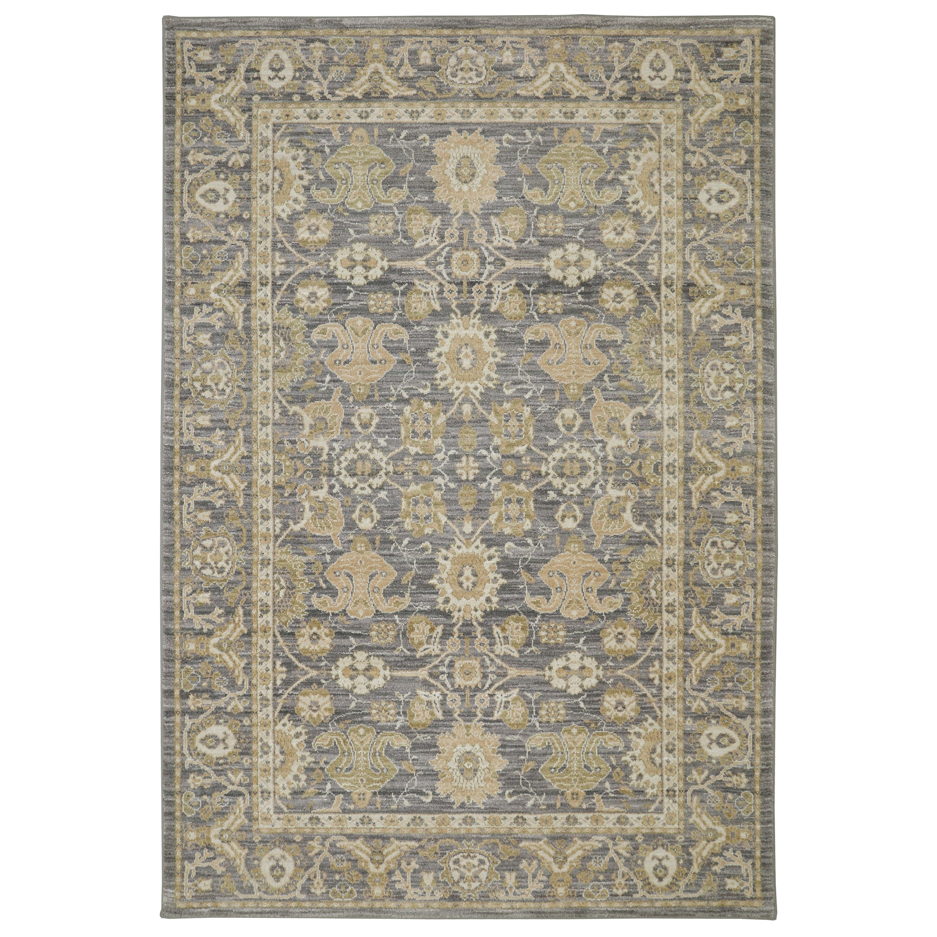 Pacifica 5'3x7'10 Voltaire Gray Rug by Karastan Rugs at Alison Craig Home Furnishings