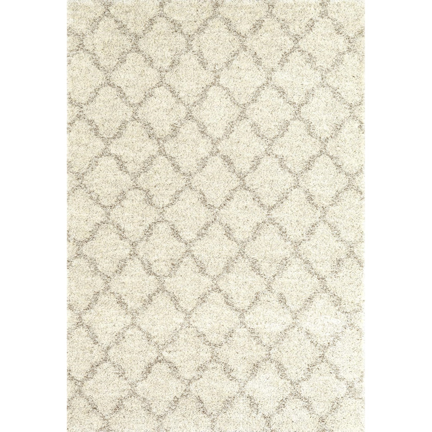 Prima Shag 4'x5'7 Temara Lattice Brown Rug by Karastan Rugs at Darvin Furniture
