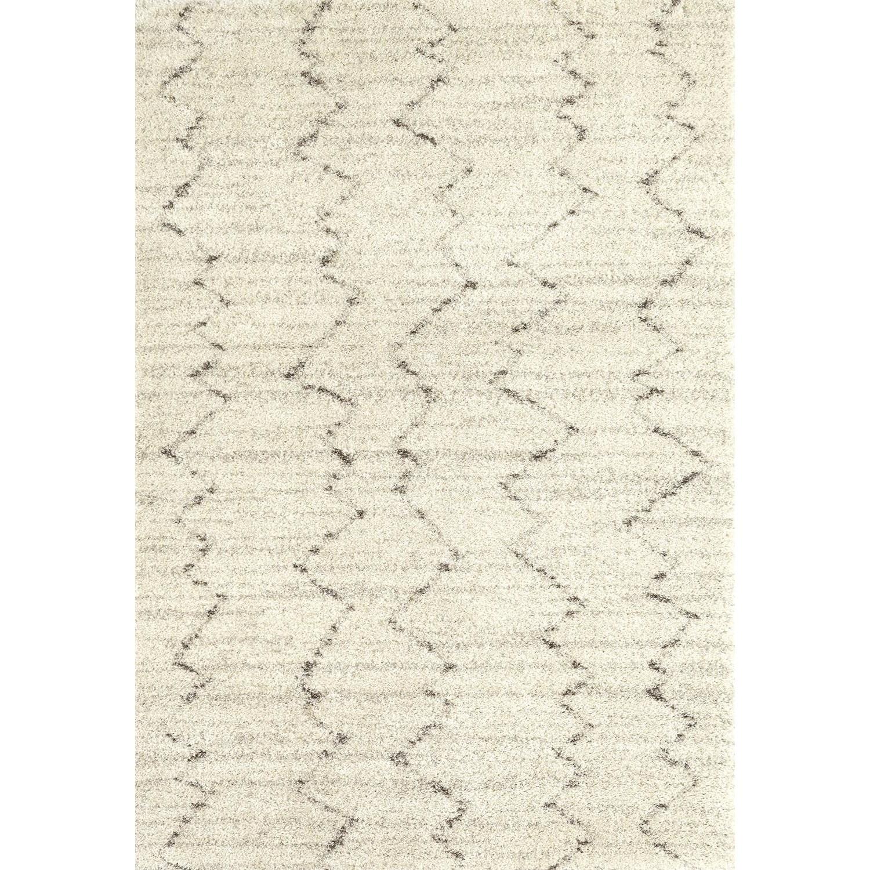 Prima Shag 5'3x7'7 Fassi Ivory Rug by Karastan Rugs at Darvin Furniture