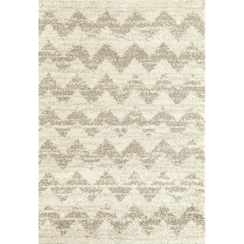 Prima Shag 5'3x7'7 Mimosa Stripe Camel Rug by Karastan Rugs at Darvin Furniture