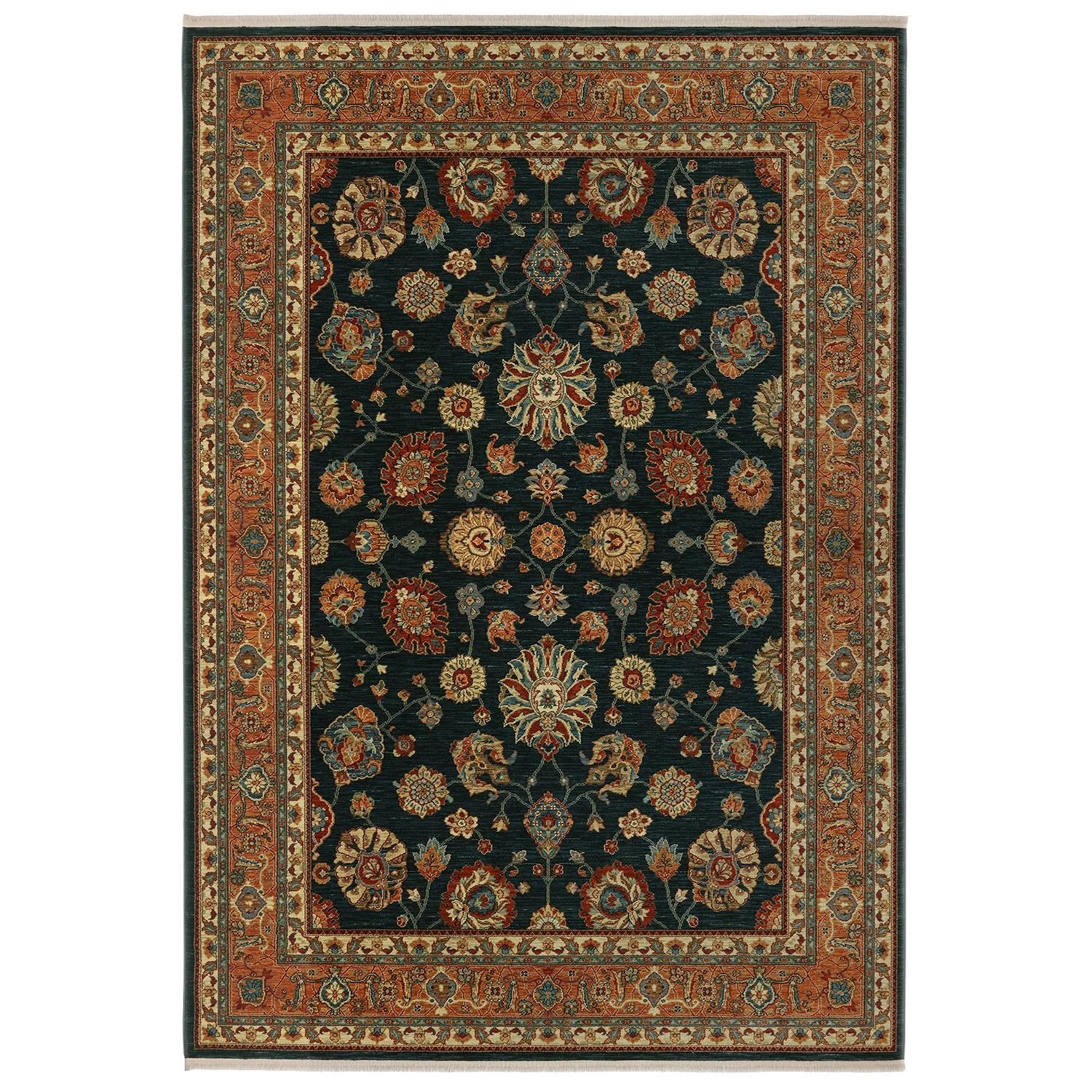 Sovereign 8'8x12' Sultana Navy Rug by Karastan Rugs at Alison Craig Home Furnishings
