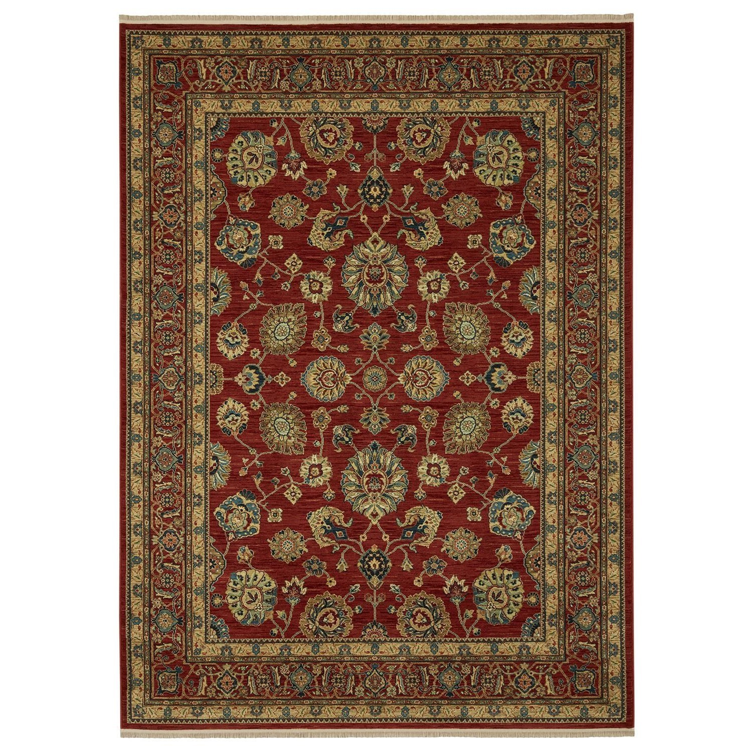Sovereign 8'8x12' Sultana Red Rug by Karastan Rugs at Darvin Furniture
