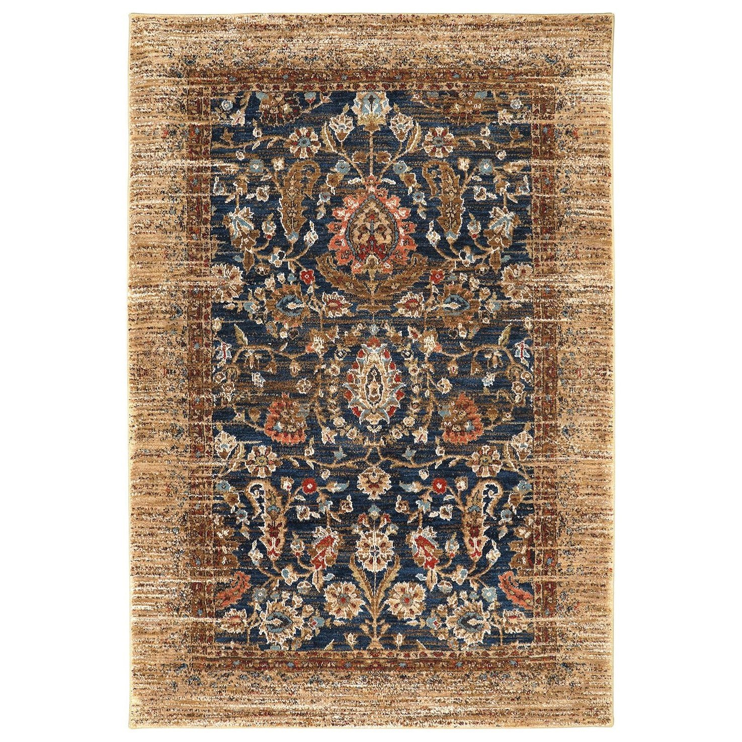 Spice Market 5'3x7'10 Charax Gold Rug by Karastan Rugs at Darvin Furniture