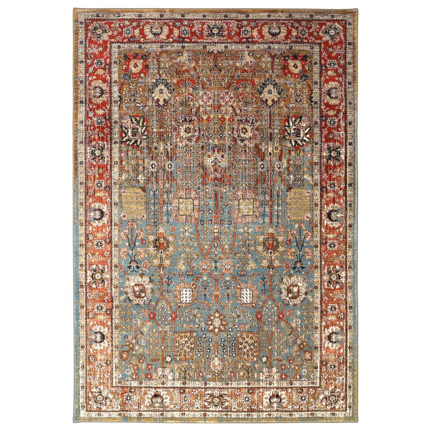 Spice Market 8'x11' Myanmar Aquamarine Rug by Karastan Rugs at Darvin Furniture