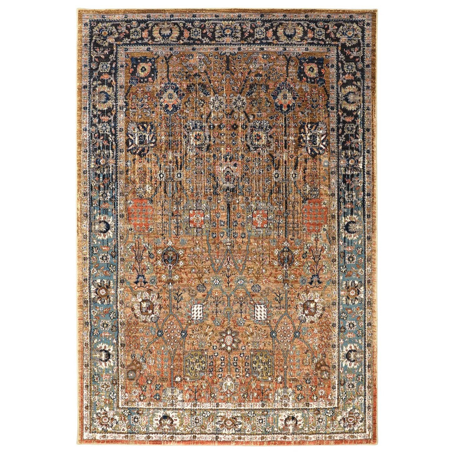 Spice Market 5'3x7'10 Myanmar Tobacco Rug by Karastan Rugs at Darvin Furniture
