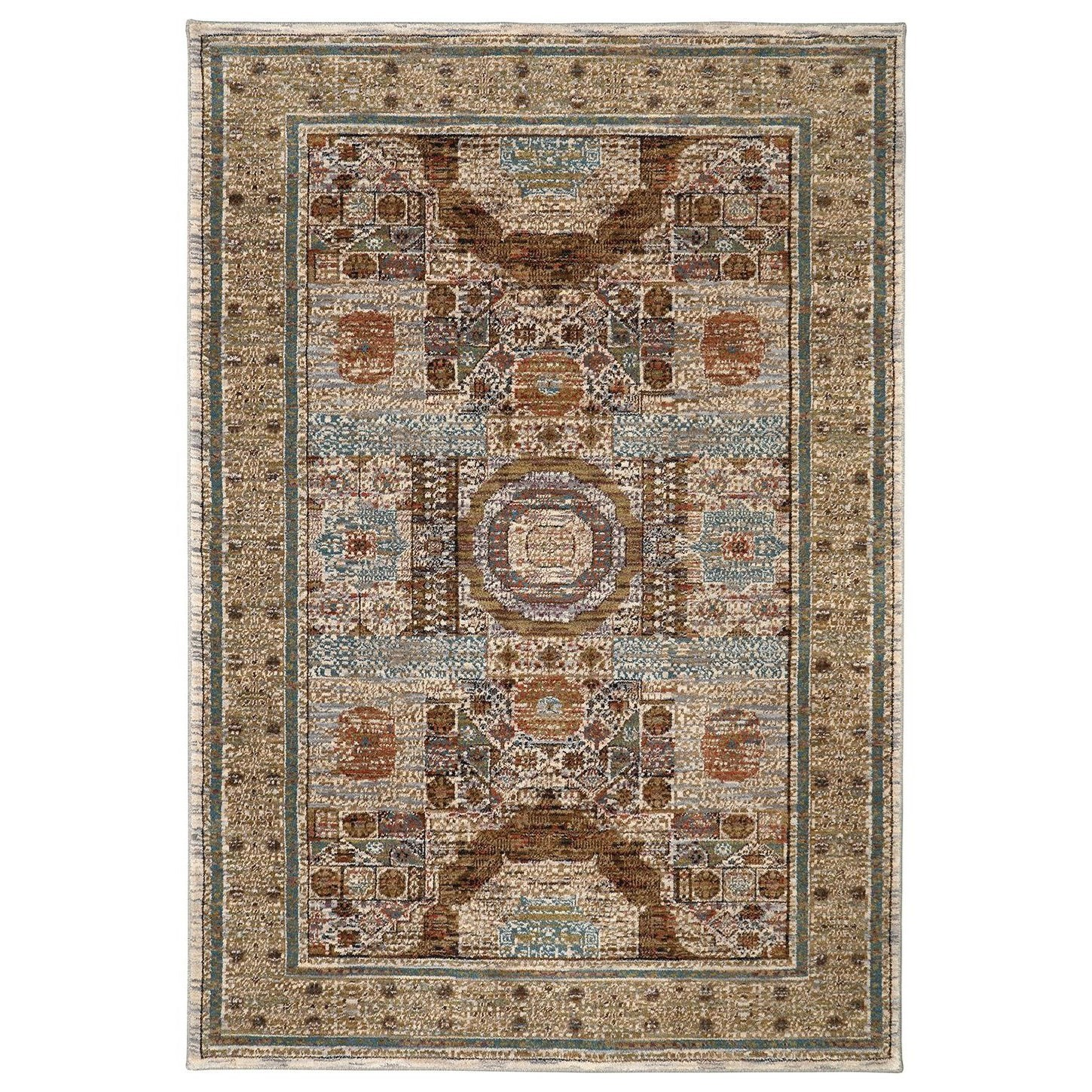Spice Market 3'5x5'5 Cyprus Cream Rug by Karastan Rugs at Darvin Furniture