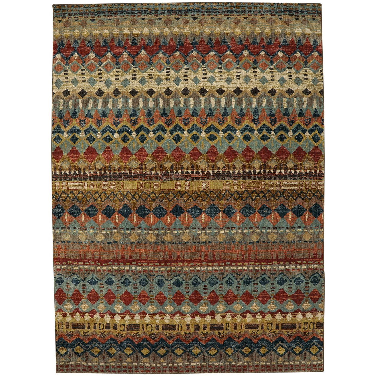 "Spice Market 5' 3""x7' 10"" Rectangle Geometric Area Rug by Karastan Rugs at Darvin Furniture"
