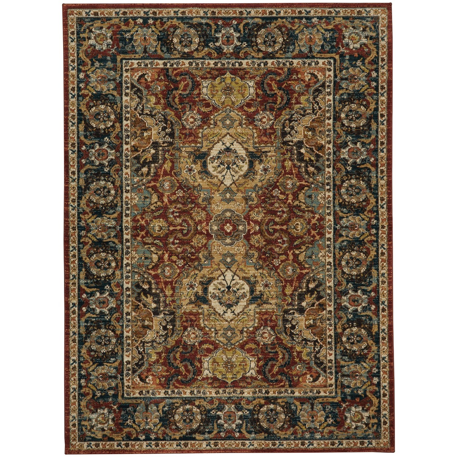 "Spice Market 3' 5""x5' 5"" Rectangle Ornamental Area Rug by Karastan Rugs at Darvin Furniture"