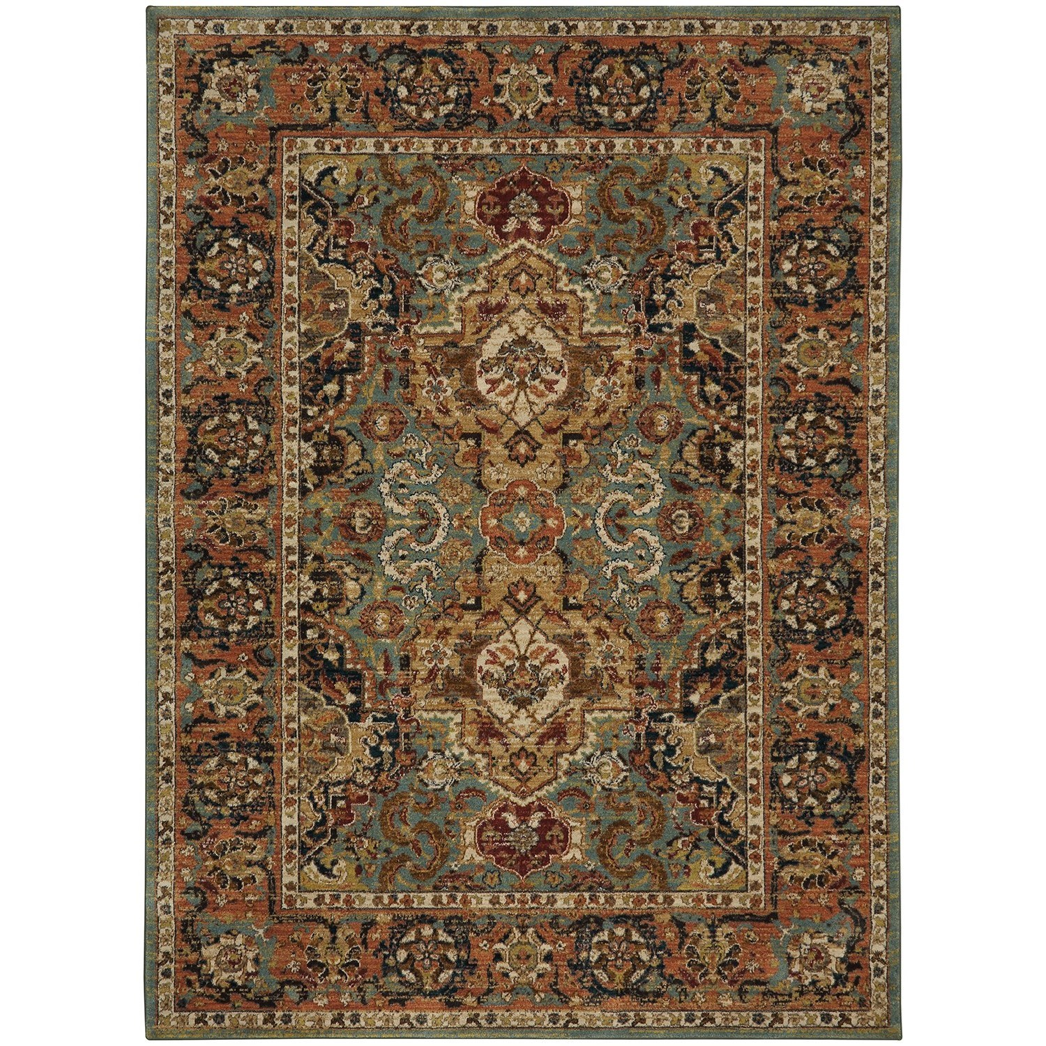 "Spice Market 9' 6""x12' 11"" Rectangle Ornamental Area Rug by Karastan Rugs at Darvin Furniture"