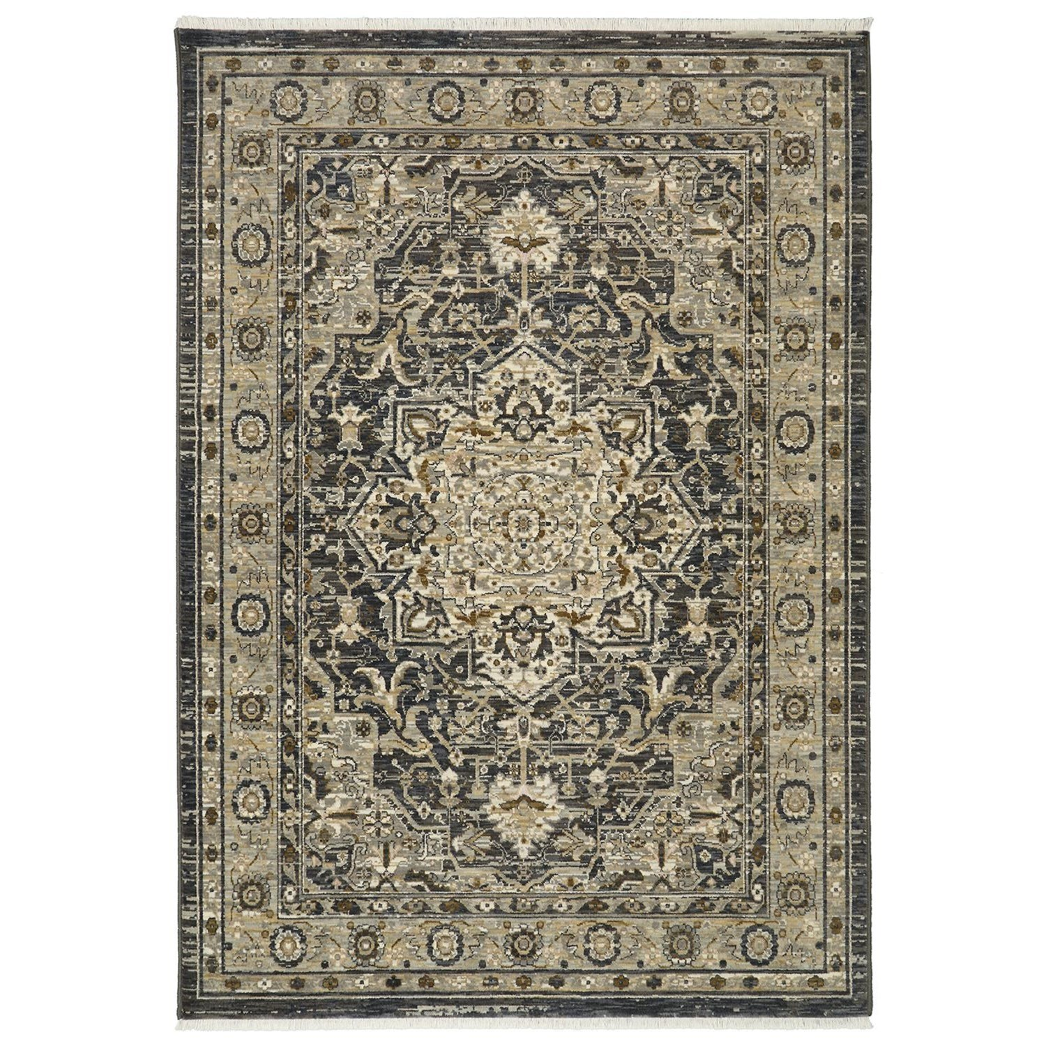 Titanium 2'1x7'10 Regency Charcoal Rug Runner by Karastan Rugs at Darvin Furniture