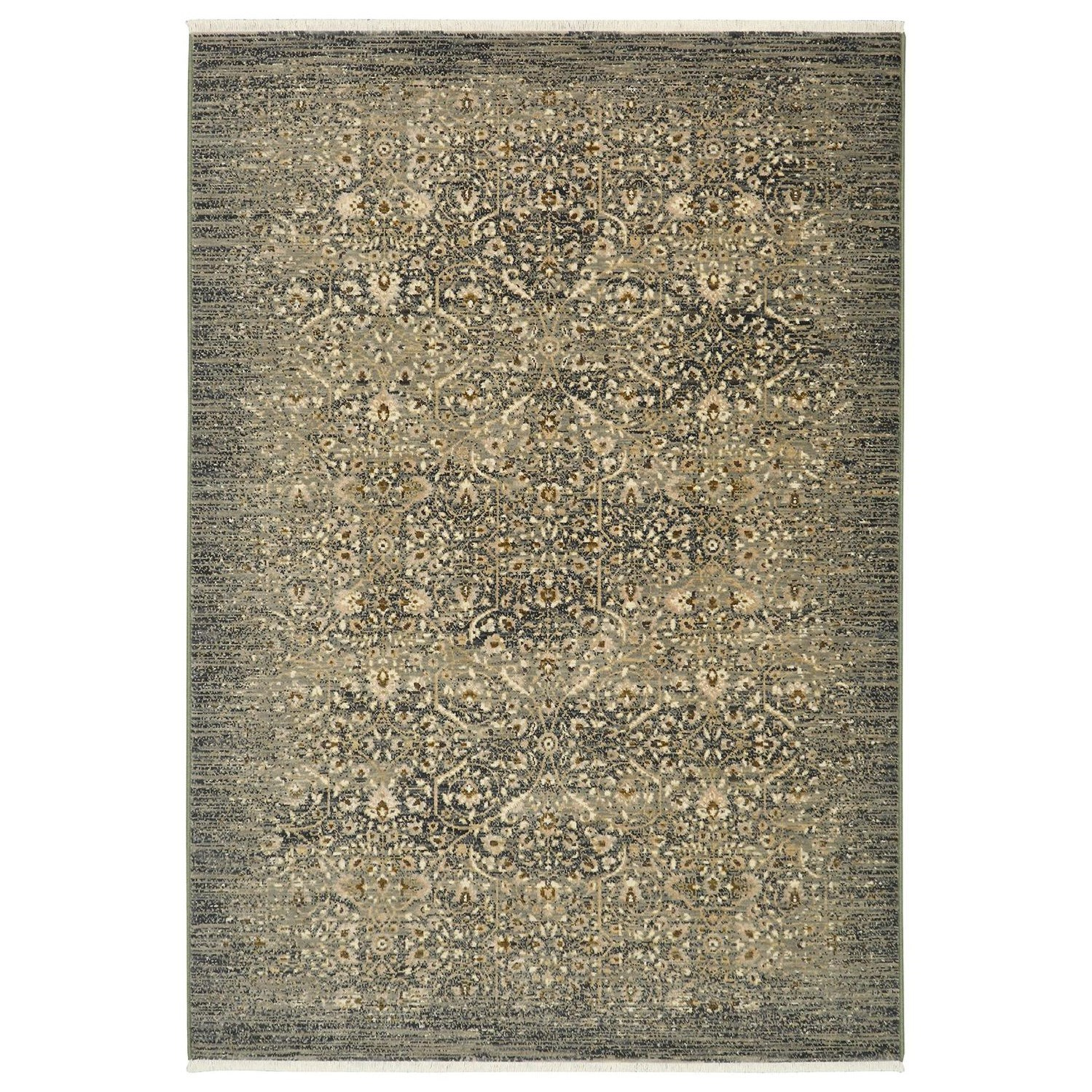 Titanium 3'6x5'6 Andeols Slate Rug by Karastan Rugs at Darvin Furniture