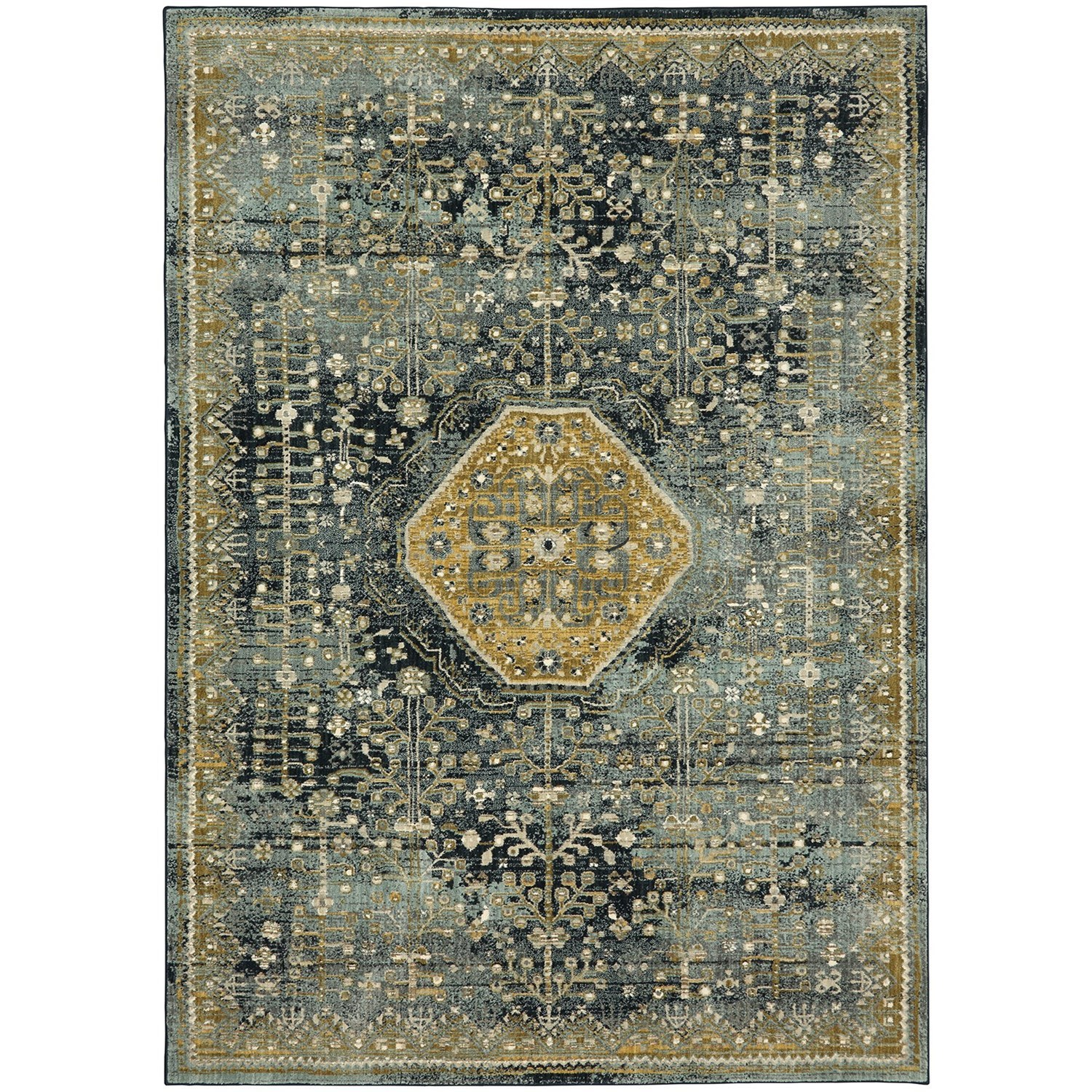 """Touchstone 3' 6""""x5' 6"""" Rectangle Ornamental Area Rug by Karastan Rugs at Adcock Furniture"""
