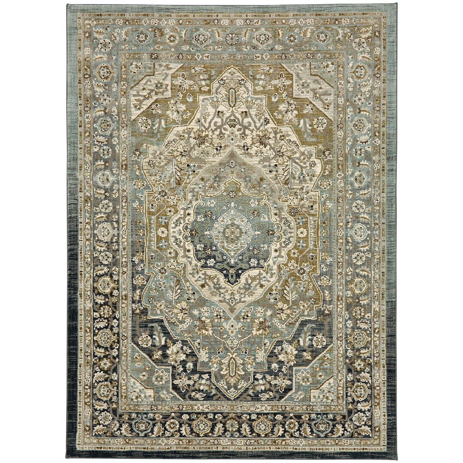 """Touchstone 5' 3""""x7' 10"""" Rectangle Ornamental Area Rug by Karastan Rugs at Darvin Furniture"""