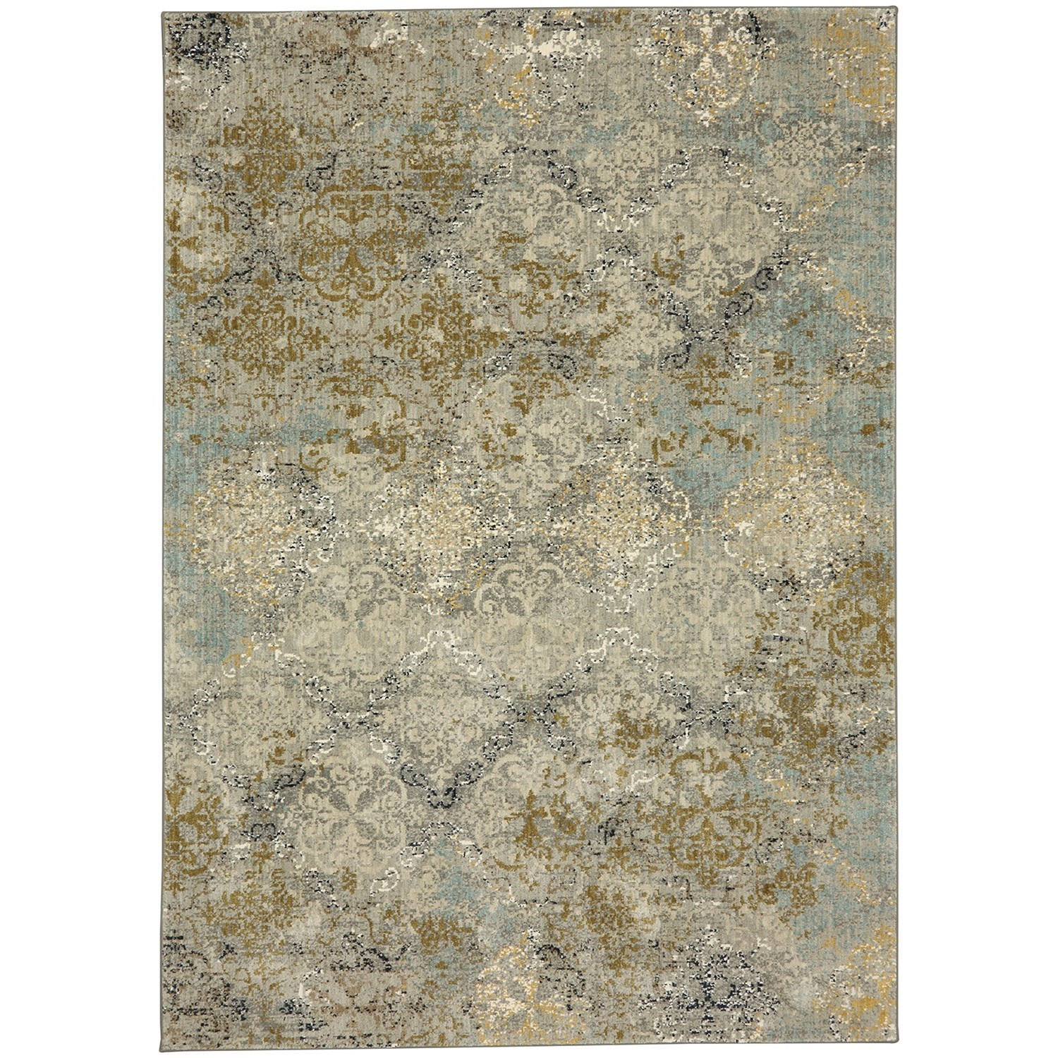 """Touchstone 3' 6""""x5' 6"""" Rectangle Ornamental Area Rug by Karastan Rugs at Darvin Furniture"""