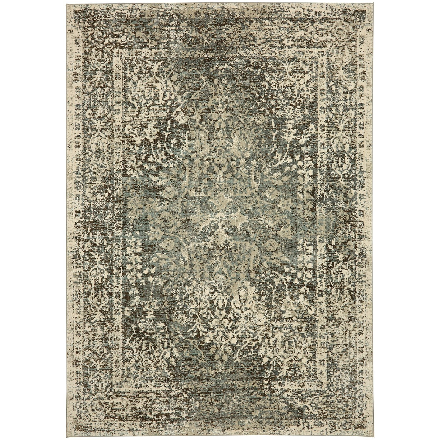 """Touchstone 9' 6""""x12' 11"""" Rectangle Ornamental Area Rug by Karastan Rugs at Darvin Furniture"""