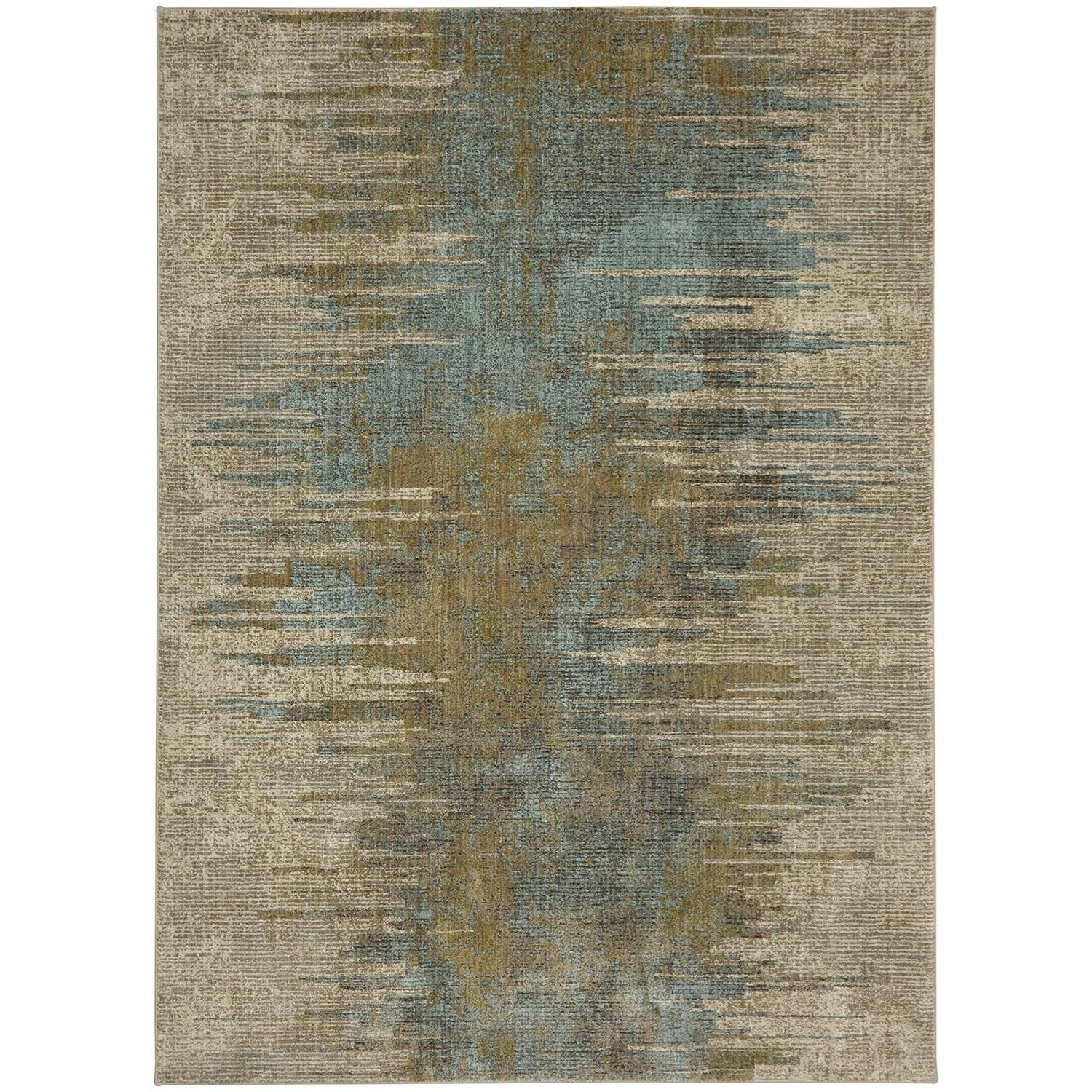 """Touchstone 5' 3""""x7' 10"""" Rectangle Abstract Area Rug by Karastan Rugs at Alison Craig Home Furnishings"""
