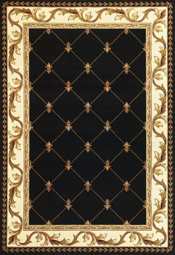5.3 x 7.7 Area Rug : Black