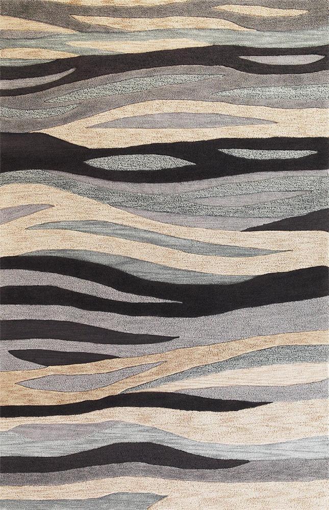 5 x 8 Area Rug : Grey Breeze
