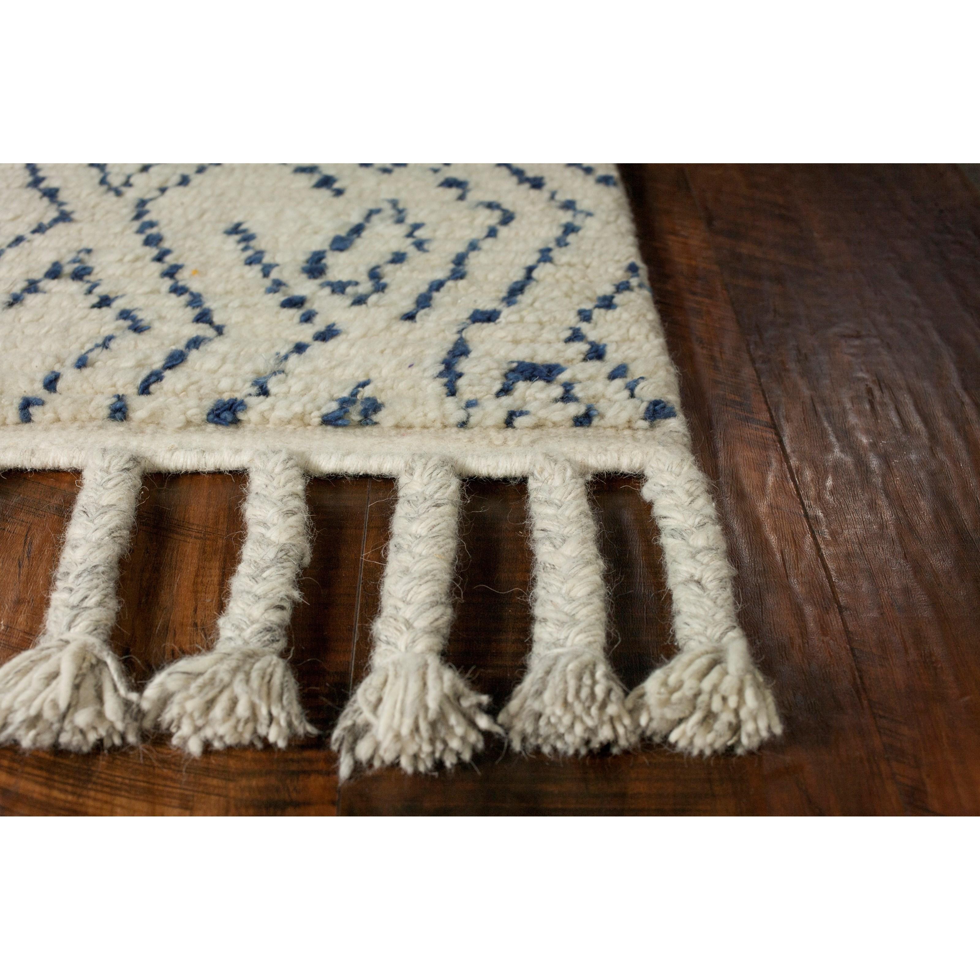 Austin 5' x 8' Ivory/Blue Mediterra Rug by Kas at Wilson's Furniture