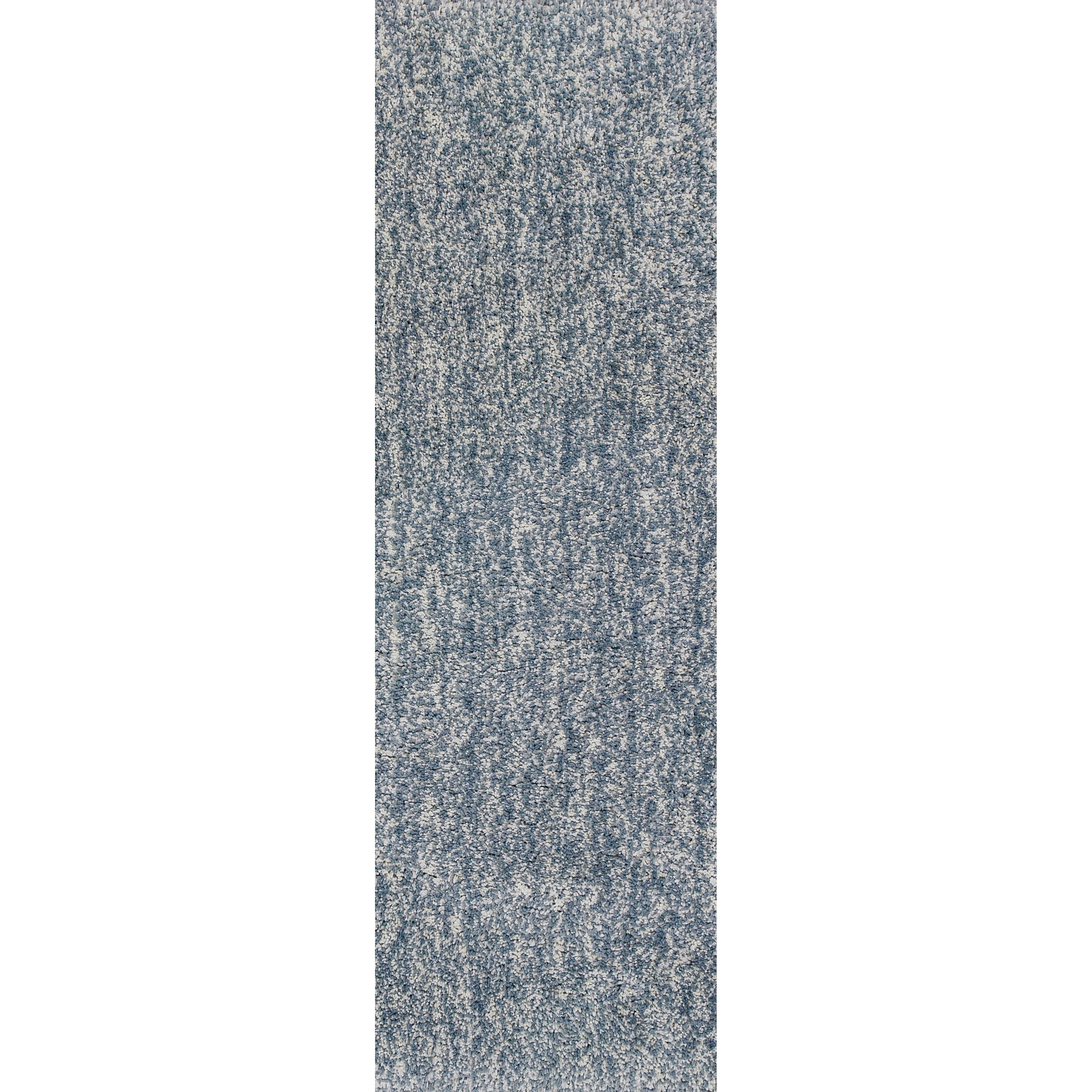"""Bliss 2'3"""" X 7'6"""" Slate Heather Shag Area Rug by Kas at Zak's Home"""
