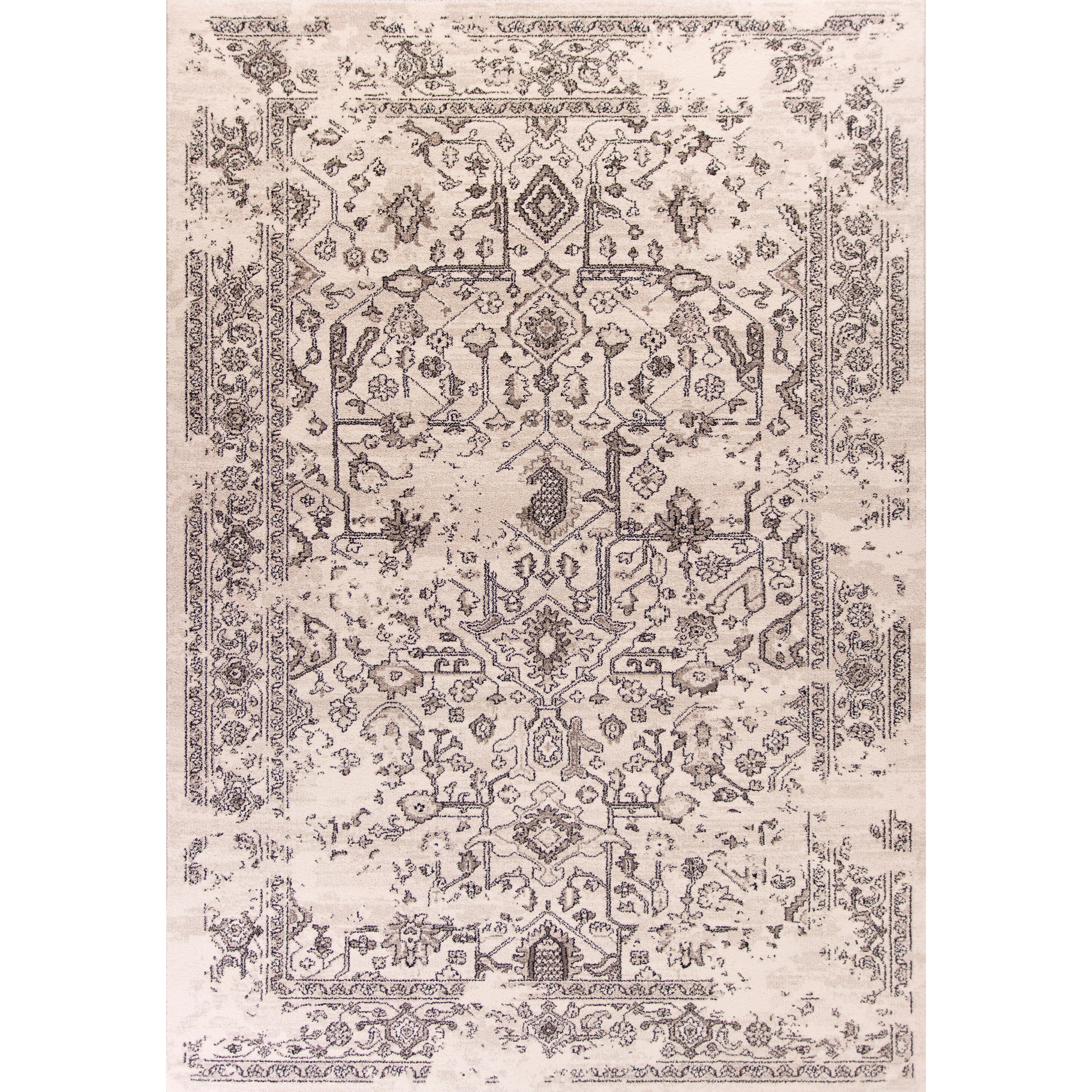 """Bob Mackie Home Vintage 5'3"""" X 7'7"""" Grey Marrakesh Area Rug by Kas at Zak's Home"""