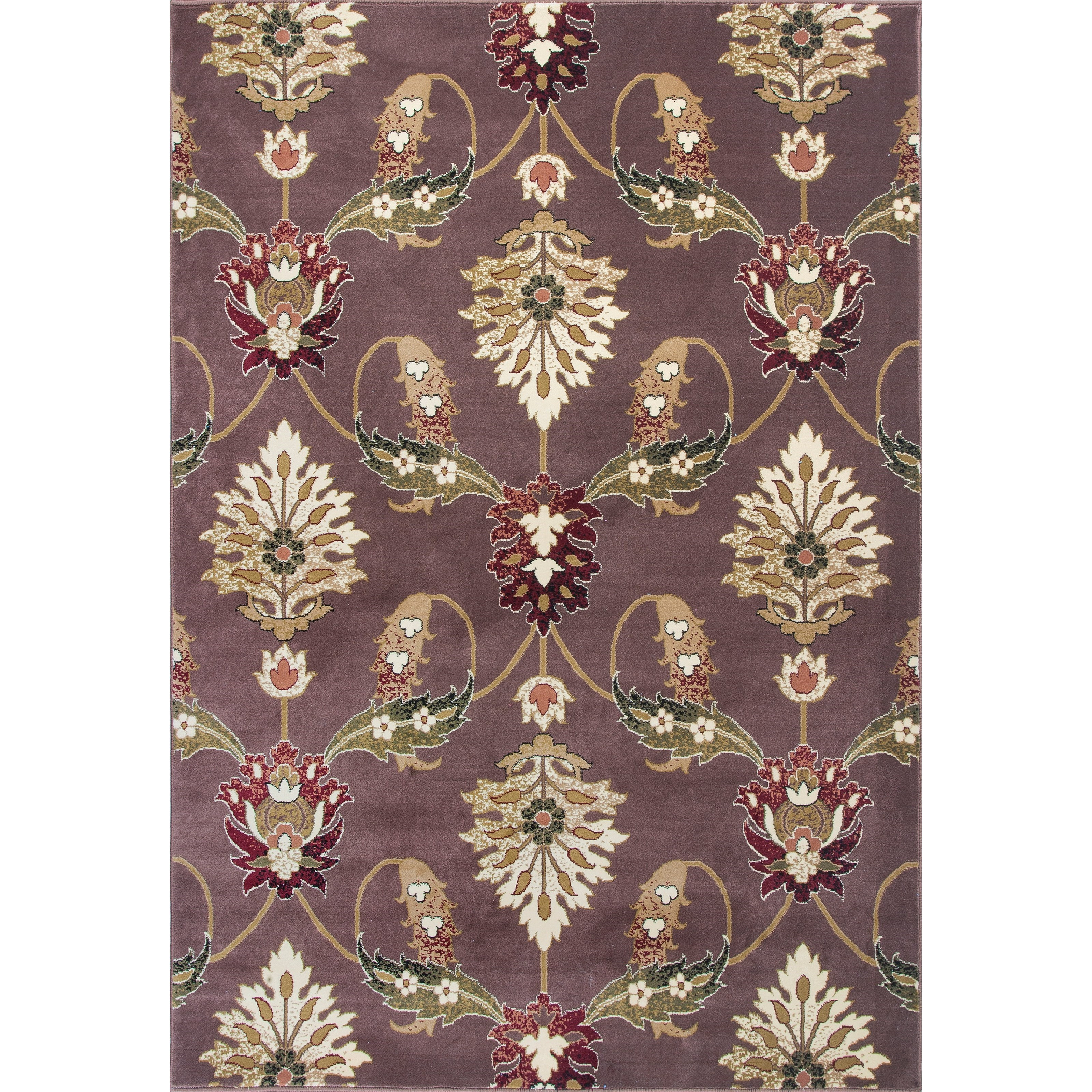 """Cambridge 5'3"""" X 7'7"""" Plum Palazzo Area Rug by Kas at Zak's Home"""