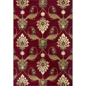 """1'8"""" X 2'7"""" Red Palazzo Area Rug"""